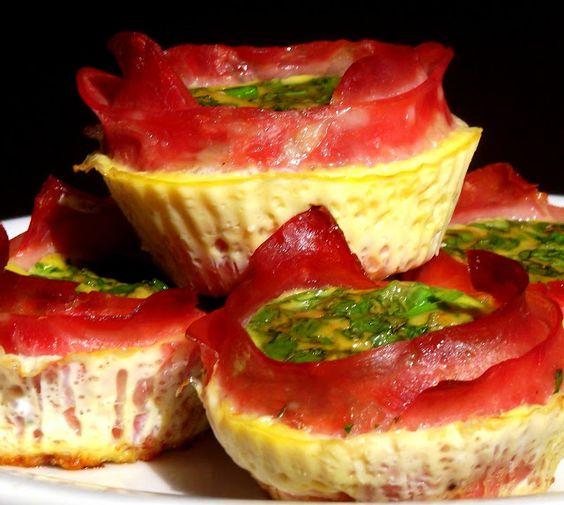 Pitadinha: Muffin de ovos com presunto