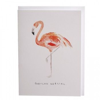 Klappkarte Flamingo 'fabulous darling'