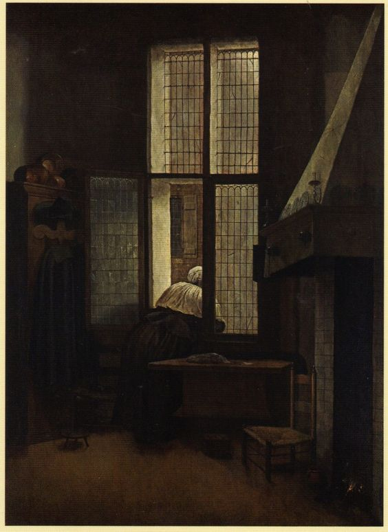 17th Century Paintings of Women | Jacobus Vrel, Woman at her Window , c.1650, Kunsthistorisches Museum ...: