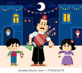 Juice Vendor Ramadan Kareem Greeting Card Kids Carrying Lanterns Ramadan Kids Ramadan Crafts Ramadan