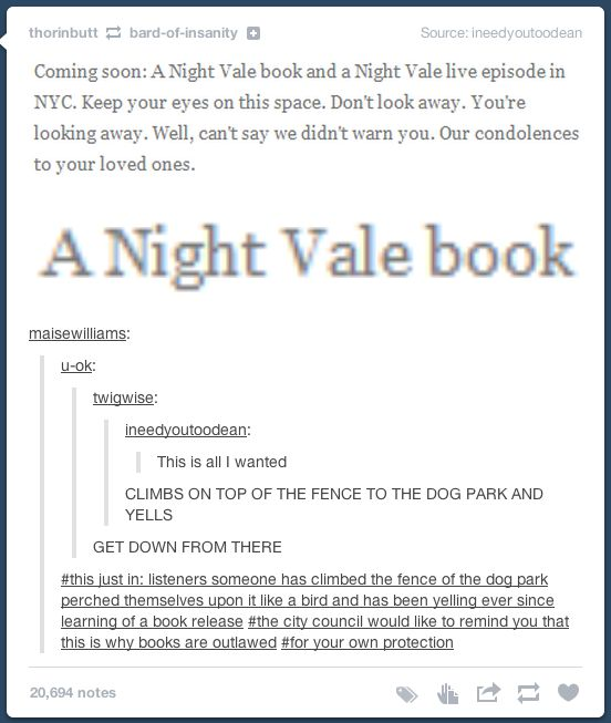 Exactly Welcome to Night Vale Pinterest Night vale, Glow cloud - release notes template