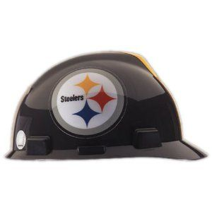 NFL Pittsburgh Steelers Hard Hats with Ratchet Suspension. Show your favorite Pittsburgh Steelers hard hats with pride... This version of the Pittsburgh Steelers Hard Hats comes with a Ratchet Supension that adjusts from head sizes 6.5 to 8.  These NFL hard hats can complement any safety program, since they are OSHA approved for the worksite. With workers more inclined to wear them, the new line of football hardhats can actually improve wearer acceptance. All NFL teams are in stock and ship…