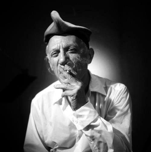 Portrait of Pablo Picasso, Perpignan, 1955 -by Raymond Fabre.