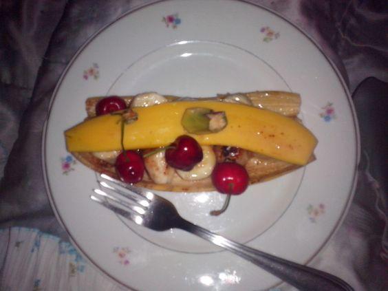 Great desert! Banana gourmet!!