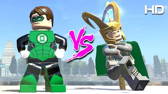 LOKI vs GREEN LANTERN (LEGO MARVEL SUPER HEROES)
