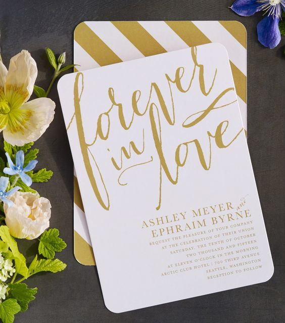 Send a wedding invitation as unique as your love. Beautiful typography and a classic wedding invitation style make a stunning combination that will wow your guests. Find more wedding invitation and save the date styles at www.weddingpaperdivas.com.