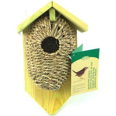 Best For Birds Nest Pocket Coconut Fiber 10 in x 6 in x 4 in Birdhouse Nest Material: Sea Grass