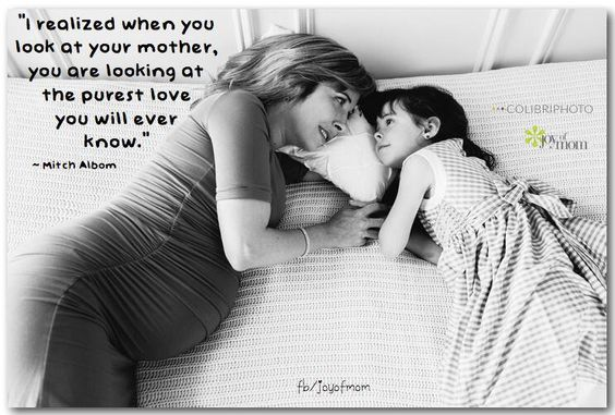 I realized when you look at your mother, you are looking at the purest love you will ever know. #MothersDay #joyofmom pic.twitter.com/saig1VQbq5