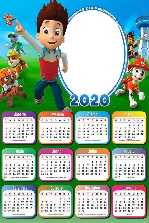 patrulla canina (calendar, 2020) in 2020 | Kids calendar, Photo