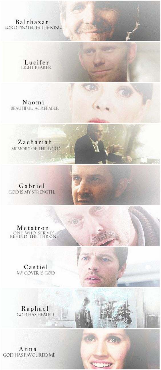 The meaning of the angels' names.....funny.....some of them aren't anything like the actual people.