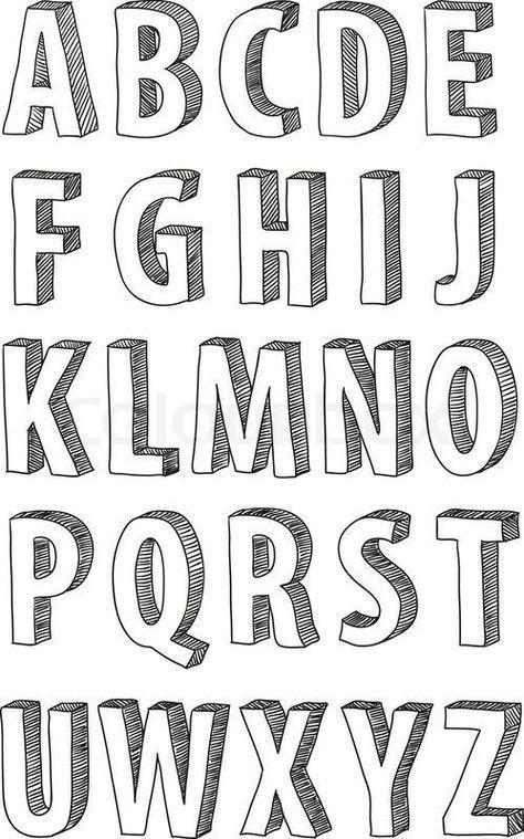 手帳 ノートをお洒落に彩る 簡単デザイン文字の書き方8選 レタリングアルファベット クリエイティブなレタリング 落書きアルファベット