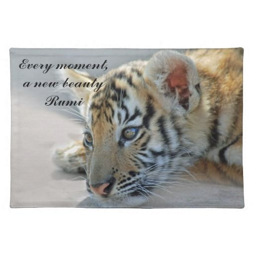 Rumi - Every moment, a new beauty - table placemat