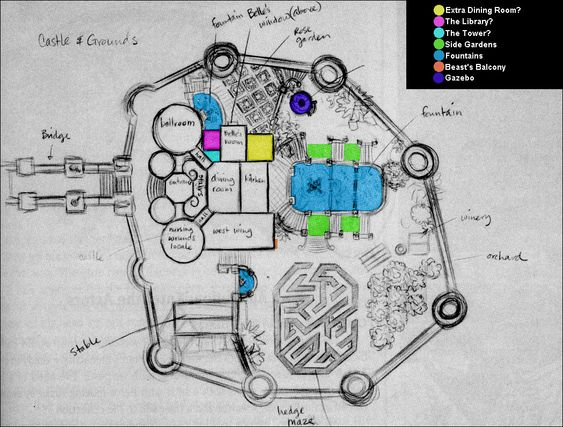 Possible floor plan of the Beast's Castle from Beauty and ...