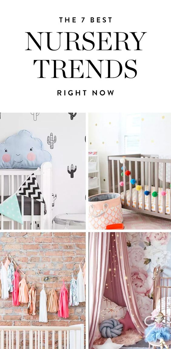 From cozy teepees to adorable cacti, here are 7 new nursery trends we