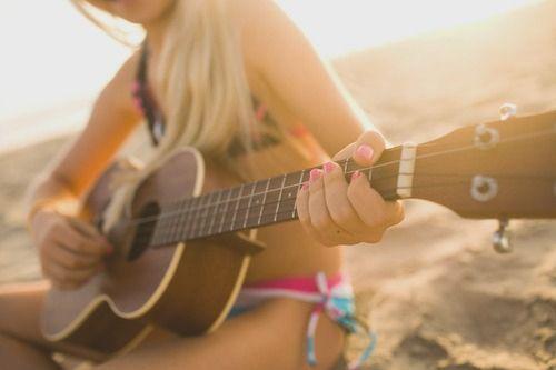 guitar + beach = the life