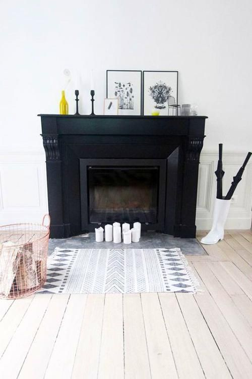 Things Kate May Like Black And White Mantle Decor With Pop Of