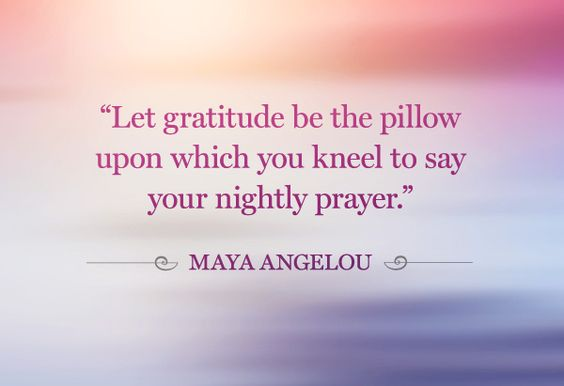 Being grateful to God.
