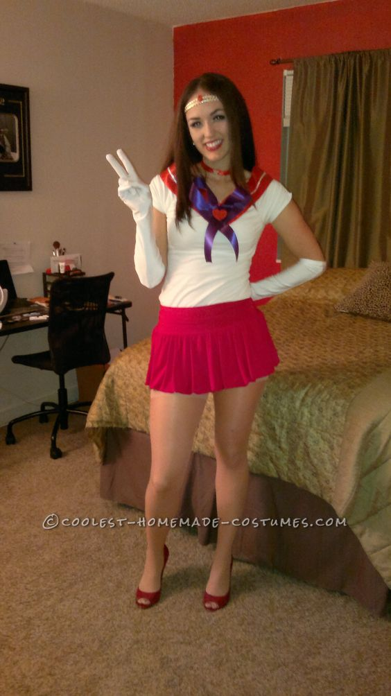 Cute homemade costume for a woman sexy sailor mars sexy for Diy halloween costumes for adult women
