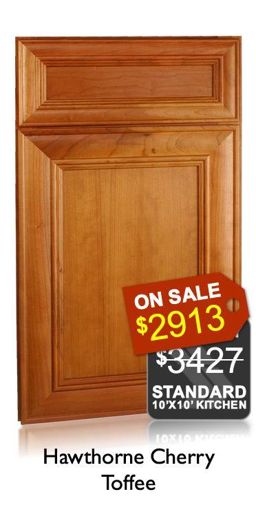 Hawthorne Cherry Toffee Discount Kitchen Cabinets