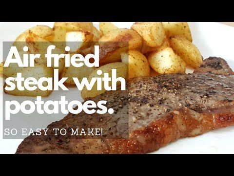 Airfryer Steak With Roasted Potatoes Airfryer Masterchef Easy Air Fryer Recipes Air Fry Steak Recipes Roasted Potatoes