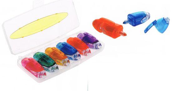 Estuche con 6 marcadores de colores