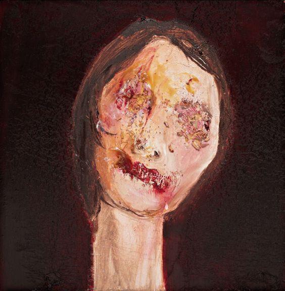 "Daniel Hesidence, Oil on wood panel, 15x15"""