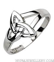 Handcrafted Sterling Silver Celtic Trinity Love Knot Ring. $59.89, via Etsy.