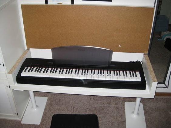 keyboard storage hiding place clever ideas pinterest good ideas keyboard and search. Black Bedroom Furniture Sets. Home Design Ideas