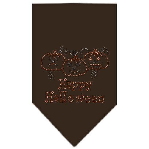 Happy Halloween Rhinestone Bandana Cocoa Large
