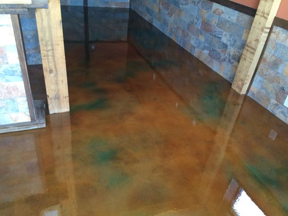 Interior concrete stain with clear epoxy top coat colors - Interior concrete floor stain colors ...