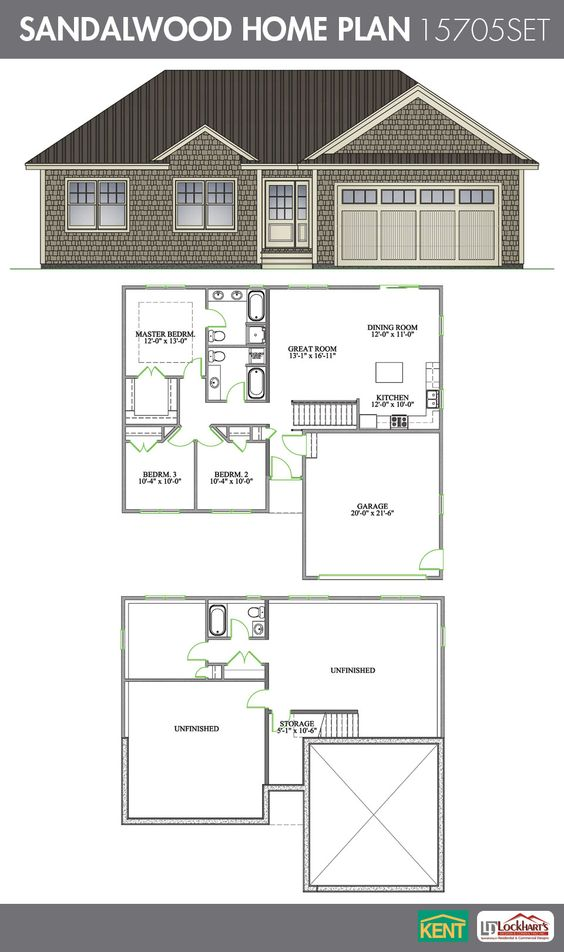 Sandalwood 4 Bedroom 3 Bath Home Plan Features Open