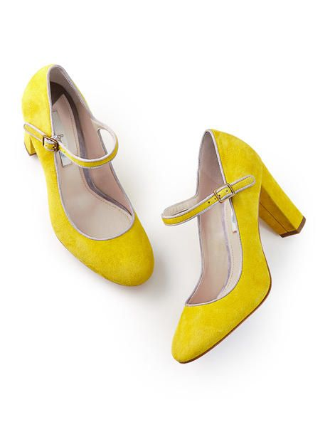 Desperately love these yellow suede Mary Jane AR645 Heels at Boden ...