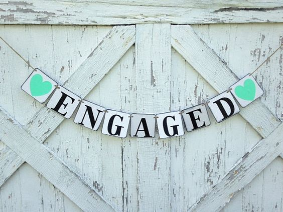 rustic engaged banner for your photo shoot