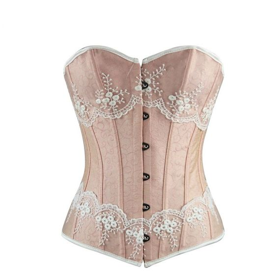 Sexy Lingerie Shape Figure Corset Top Boned Strapless Corset Waist Training Bustiers Lace Up Overbust Cincher For Women