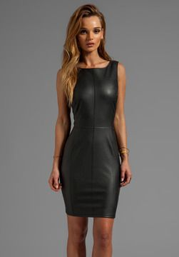 Velvet by Graham & Spencer Marjory Ponti w/ Faux Leather Dress on shopstyle.com
