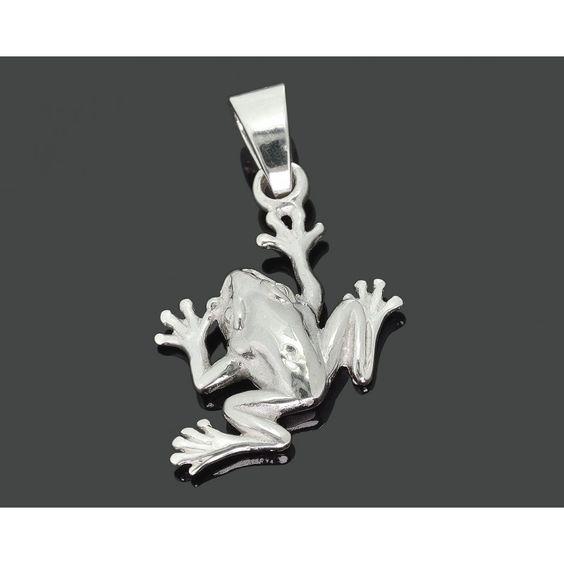 Ein schöner 925 Sterling Silber Frosch Anhänger für eine Kette. Der Anhänger ist…