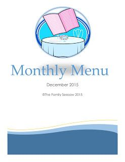 The Family Seesaw: Monthly Menu - December 2015