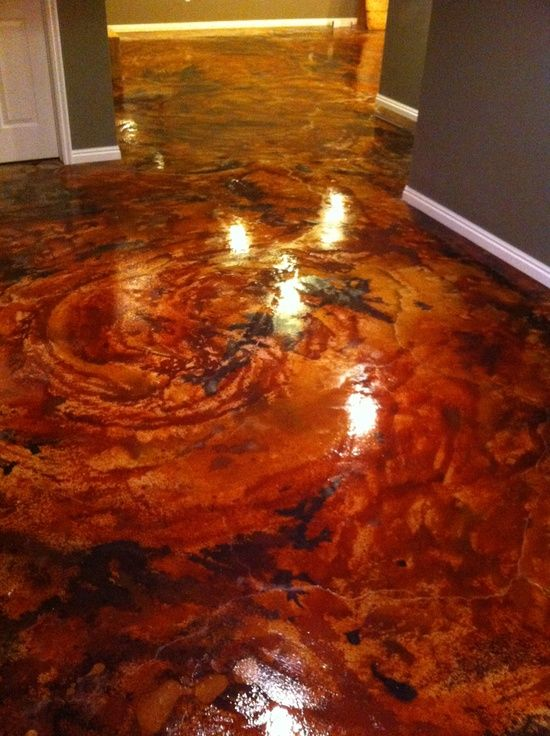 Acid stain concrete blue google http floor design for How to clean acid stain floors
