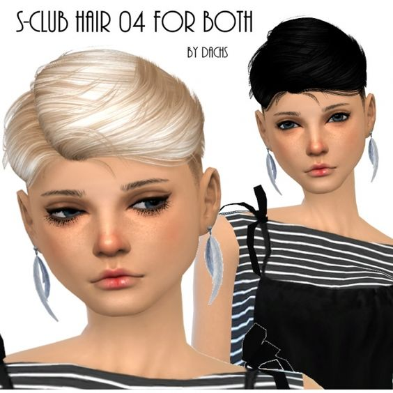 Sclub Hair 04 for both at Dachs Sims via Sims 4 Updates