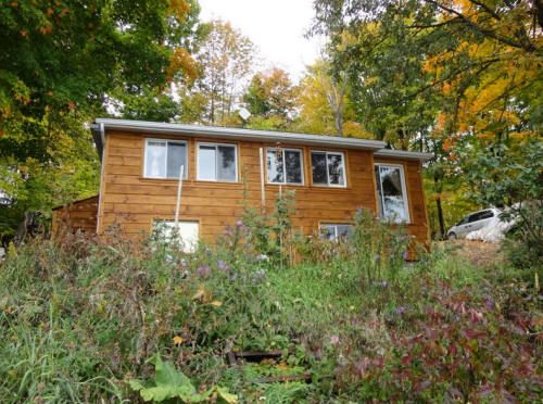 Year Round Waterfront House Cottage Located On Crowe Lake In Havelock On Waterfront Homes Cottage Wood Siding Exterior