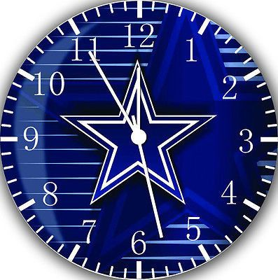 """New Dallas cowboys wall Clock 10"""" will be nice Gift and Room wall Decor Z16"""