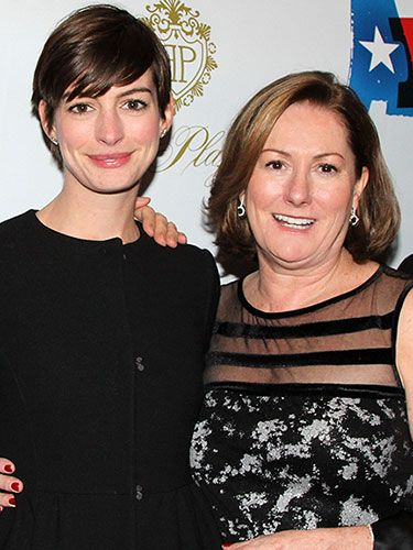 Imitation is the sincerest form of flattery, and Anne is quite literally following in her musical mother's footsteps. She dedicated her Oscar-winning performance as Fantine in the on-screen adaptation of Les Miserables to her mother, who performed the same role in the play when Anne was 8 years old. Anne has also been spotted in the audience at Kate's Broadway shows — most recently, Ann.