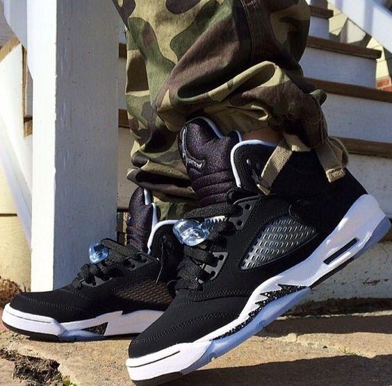 Jordan 5 'Oreo' / Camo pants