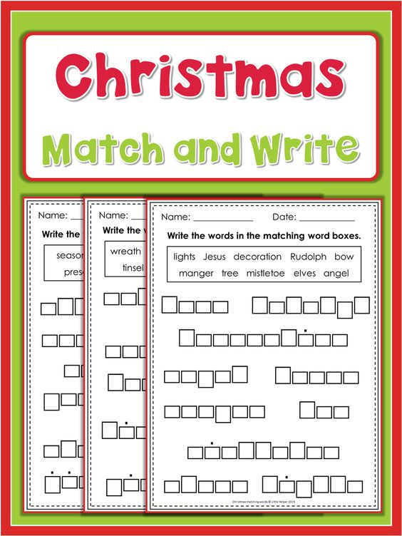 math worksheet : christmas words  match and write  spelling vocabulary and  : Find A Match Math Worksheet
