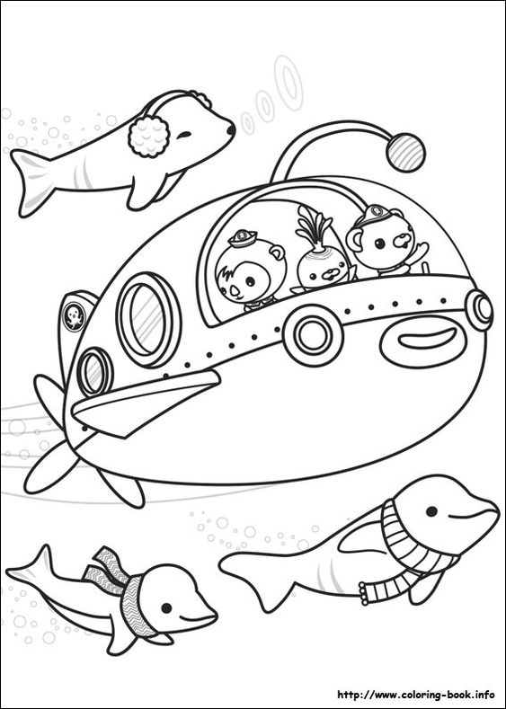 octonauts coloring pages all creatures - photo#5