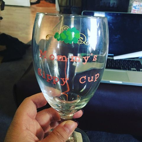 Mommy's Sippy Cup wine glass!   $15.00