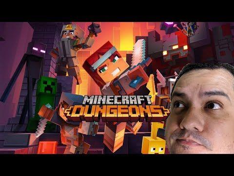 A Espera Acabou Minha Primeira Jogatina Do Minecraft Dungeons Youtube Minecraft Youtube Jogo De Acao