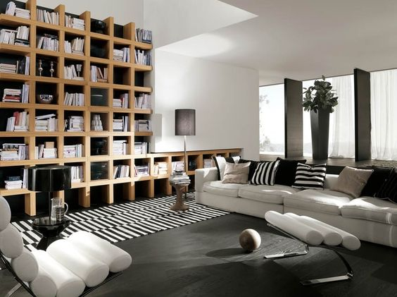 interior design for your home - Libraries, Interior design and Living room bookshelves on Pinterest