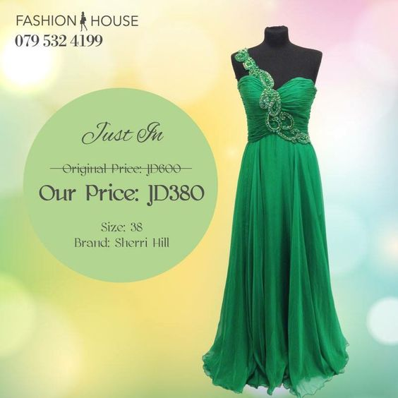 #Elegant #green #SherryHill #gown. Perfect for your next #formal #party
