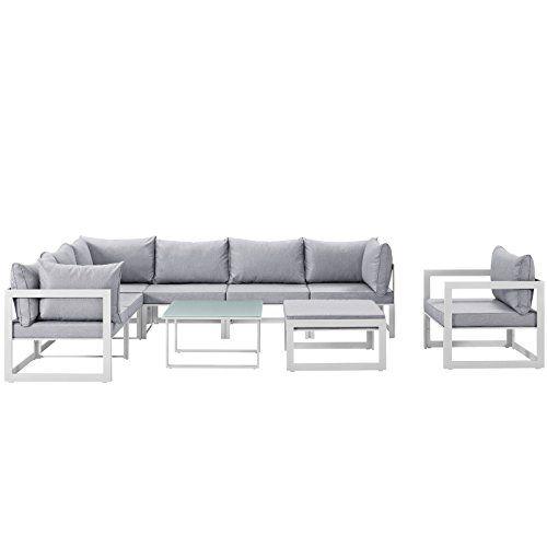 Check This Modern Urban Contemporary 9 Pcs Outdoor Patio Sectional So Patio Furniture Patiofurniture Patiodecor In 2020 Patio Sectional Outdoor Sofa Sets Sofa Set
